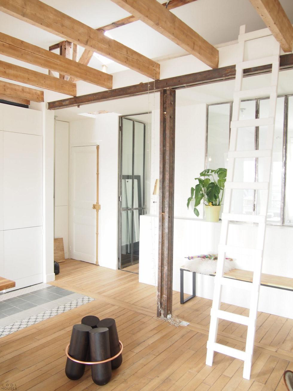 Modern Apartment Instead Of Attic Premises In Paris From Atelier DCCP Architectes 18