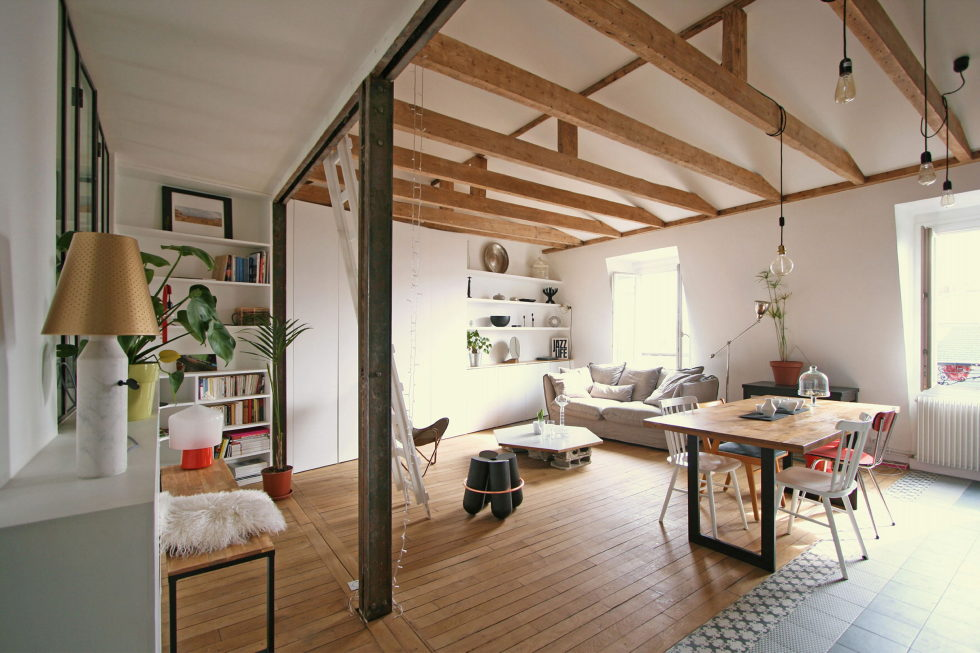 Modern Apartment Instead Of Attic Premises In Paris From Atelier DCCP Architectes 2