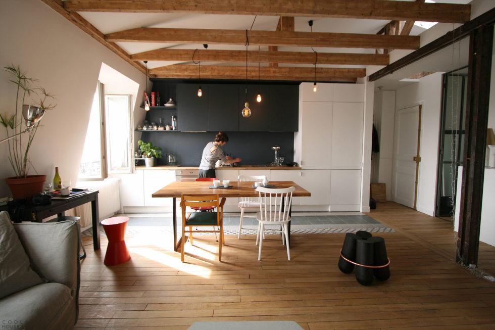 Modern Apartment Instead Of Attic Premises In Paris From Atelier DCCP Architectes 21