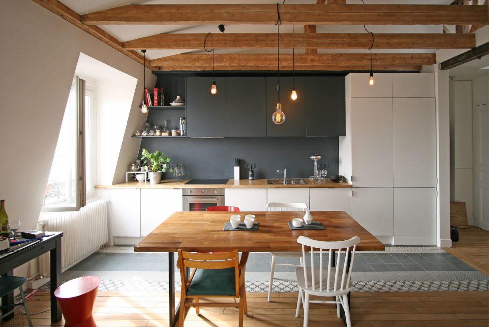 Modern Apartment Instead Of Attic Premises In Paris From Atelier DCCP Architectes 22