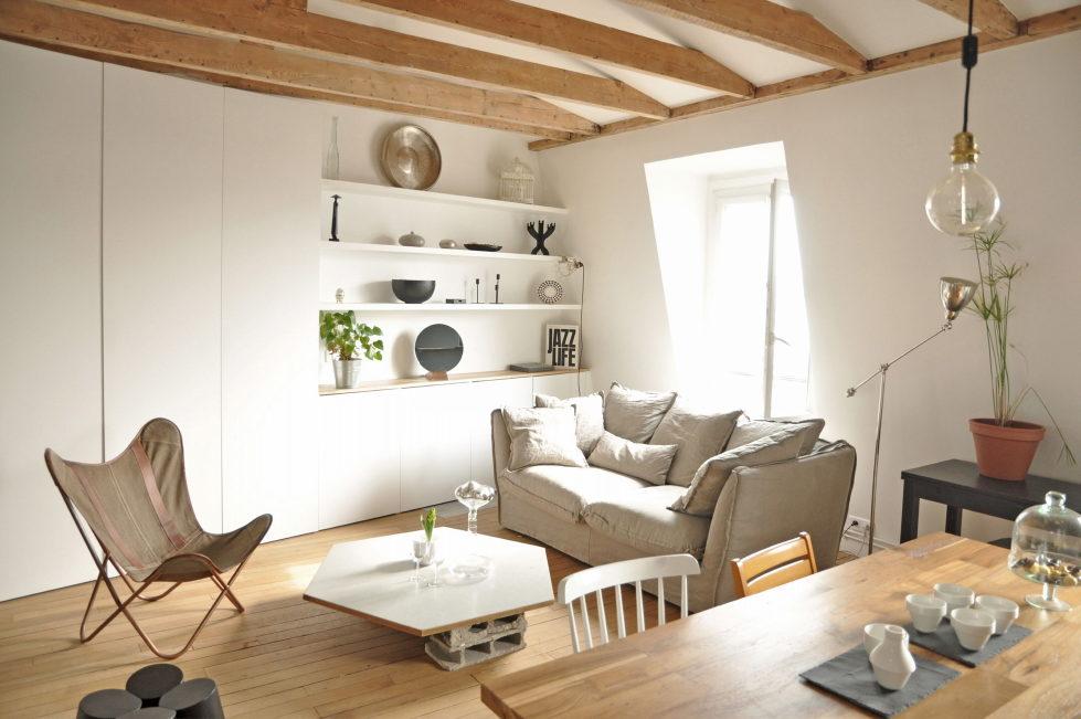 Modern Apartment Instead Of Attic Premises In Paris From Atelier DCCP Architectes 3