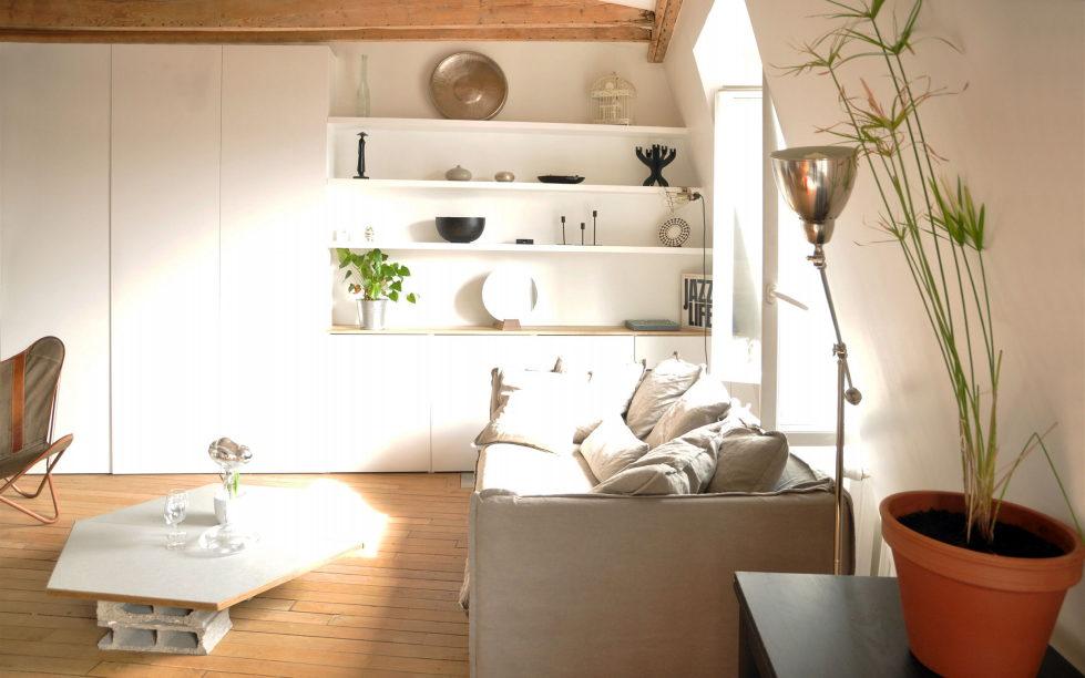 Modern Apartment Instead Of Attic Premises In Paris From Atelier DCCP Architectes 6