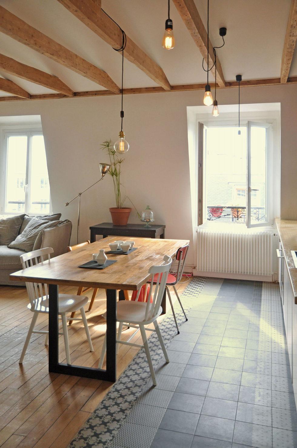 Modern Apartment Instead Of Attic Premises In Paris From Atelier DCCP Architectes 8
