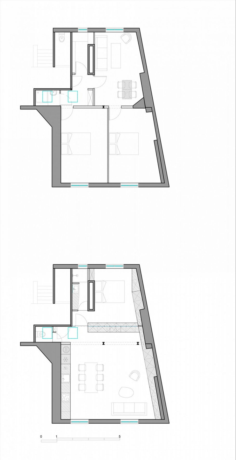 Modern Apartment Instead Of Attic Premises In Paris From Atelier DCCP Architectes - Plan 1
