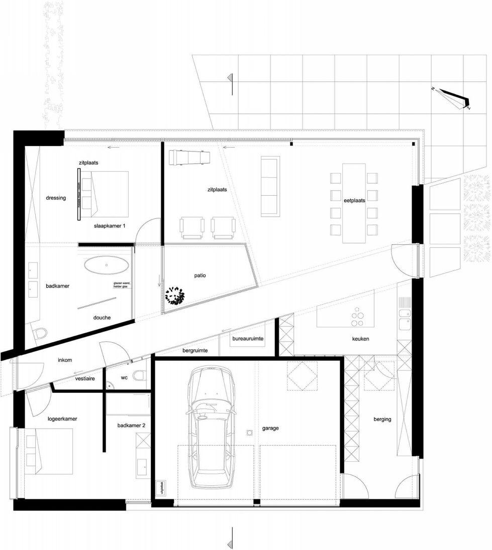 The House From Blanco Architecten In Belgium - Plan 2