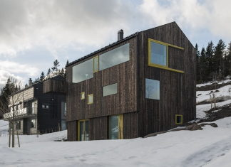 The house Linnebo overlooking Oslo by the project of Schjelderup Trondahl Arkitekter studio