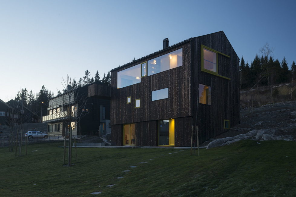 The house Linnebo overlooking Oslo by the project of Schjelderup Trondahl Arkitekter studio 14