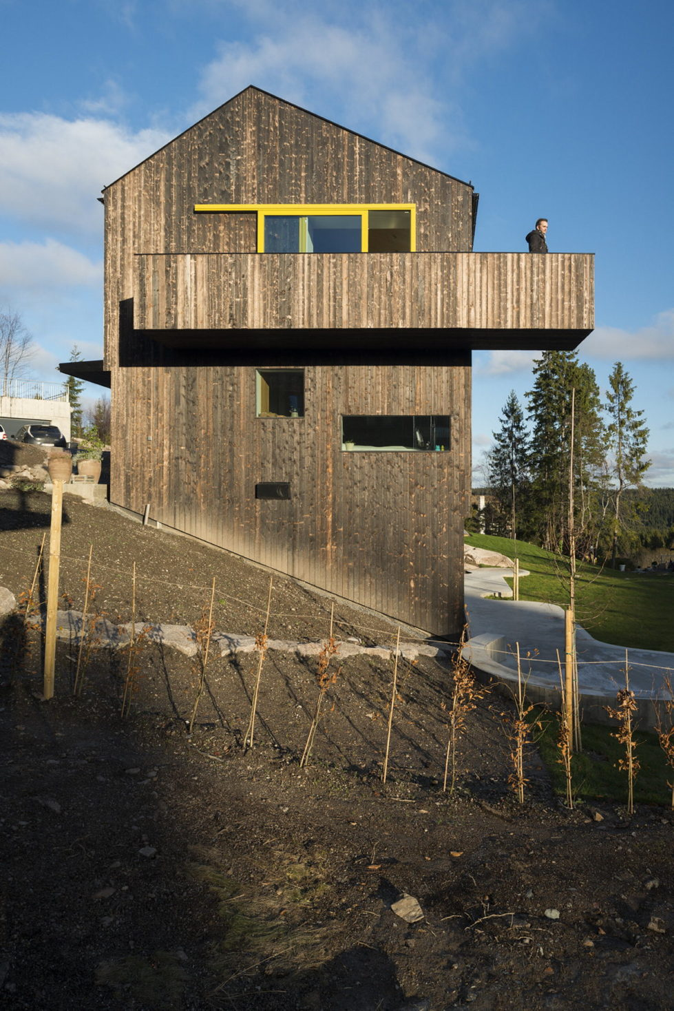 The house Linnebo overlooking Oslo by the project of Schjelderup Trondahl Arkitekter studio 19