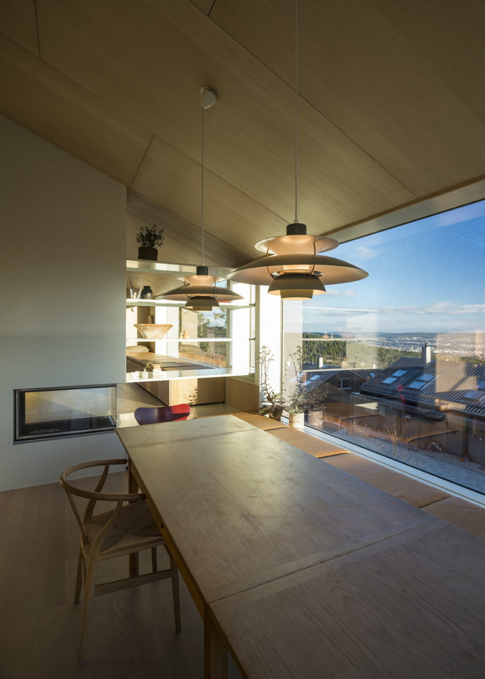 The house Linnebo overlooking Oslo by the project of Schjelderup Trondahl Arkitekter studio 5