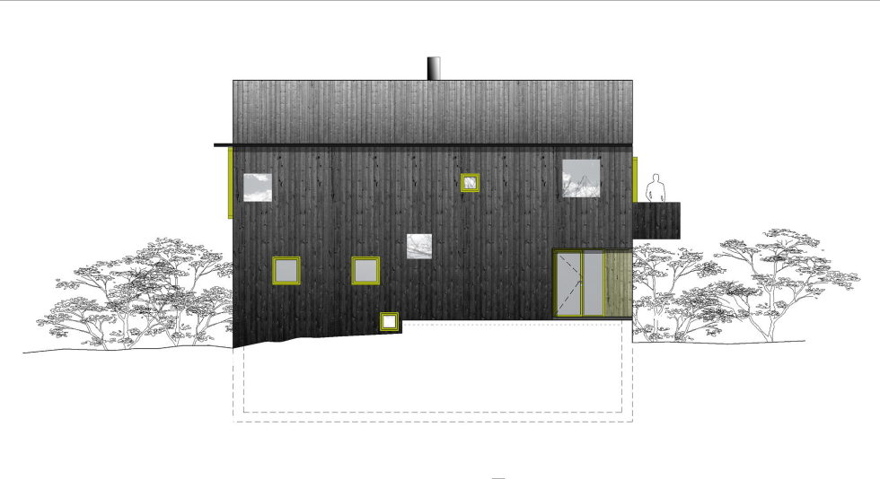 The house Linnebo overlooking Oslo by the project of Schjelderup Trondahl Arkitekter studio - Plan 1