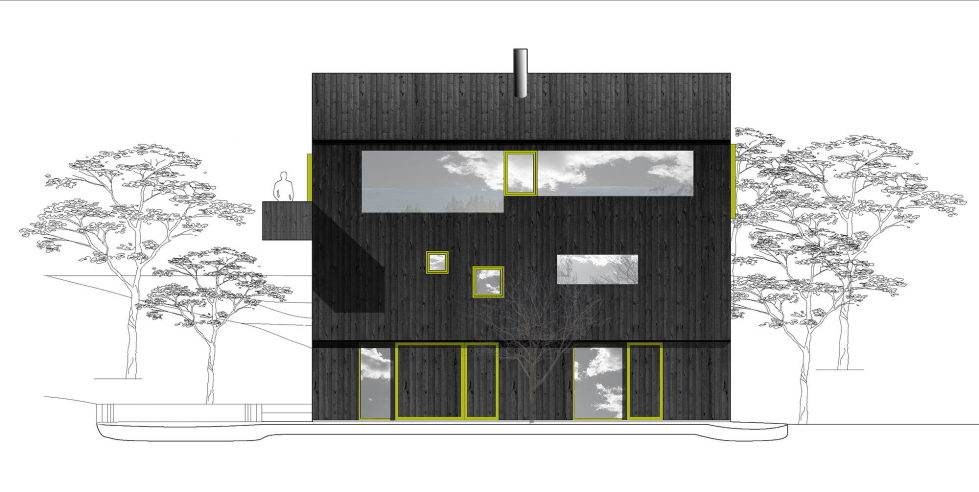 The house Linnebo overlooking Oslo by the project of Schjelderup Trondahl Arkitekter studio - Plan 2