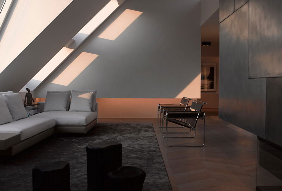 The mansard apartment in loft style in Vienna from Bernd Gruber studio 1