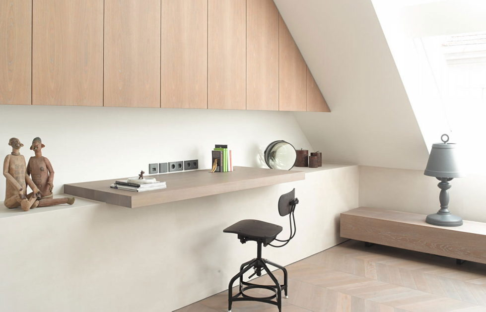 The mansard apartment in loft style in Vienna from Bernd Gruber studio 12