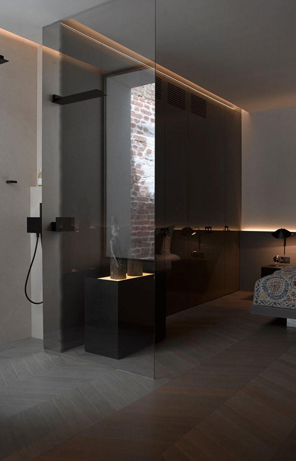 The mansard apartment in loft style in Vienna from Bernd Gruber studio 15