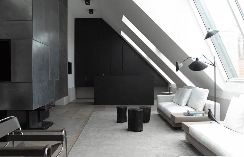 The mansard apartment in loft style in Vienna from Bernd Gruber studio 2