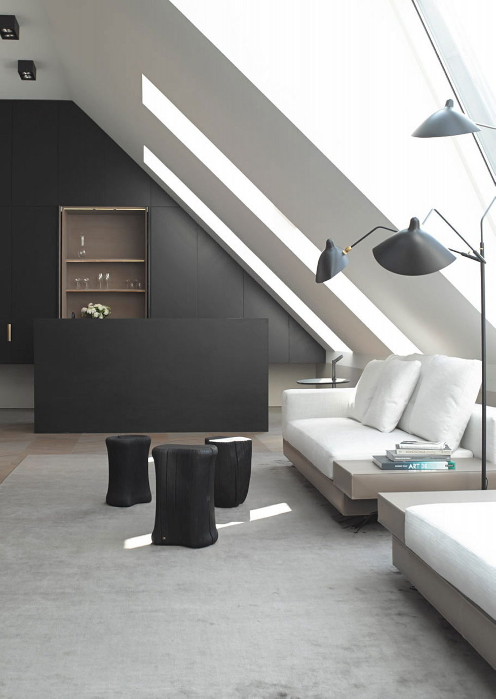 The mansard apartment in loft style in Vienna from Bernd Gruber studio 3