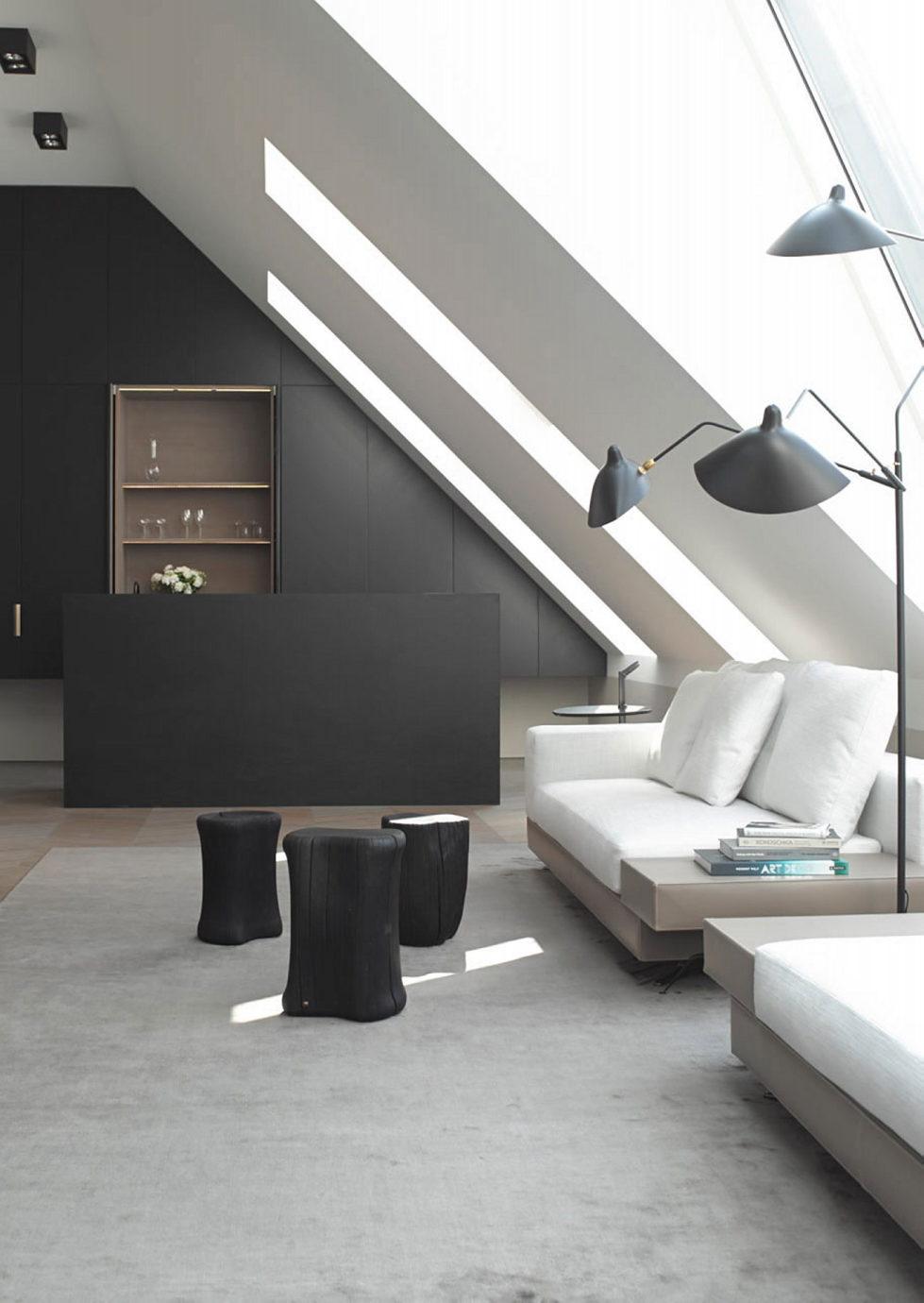 The mansard apartment in loft style in Vienna from Bernd Gruber studio 3