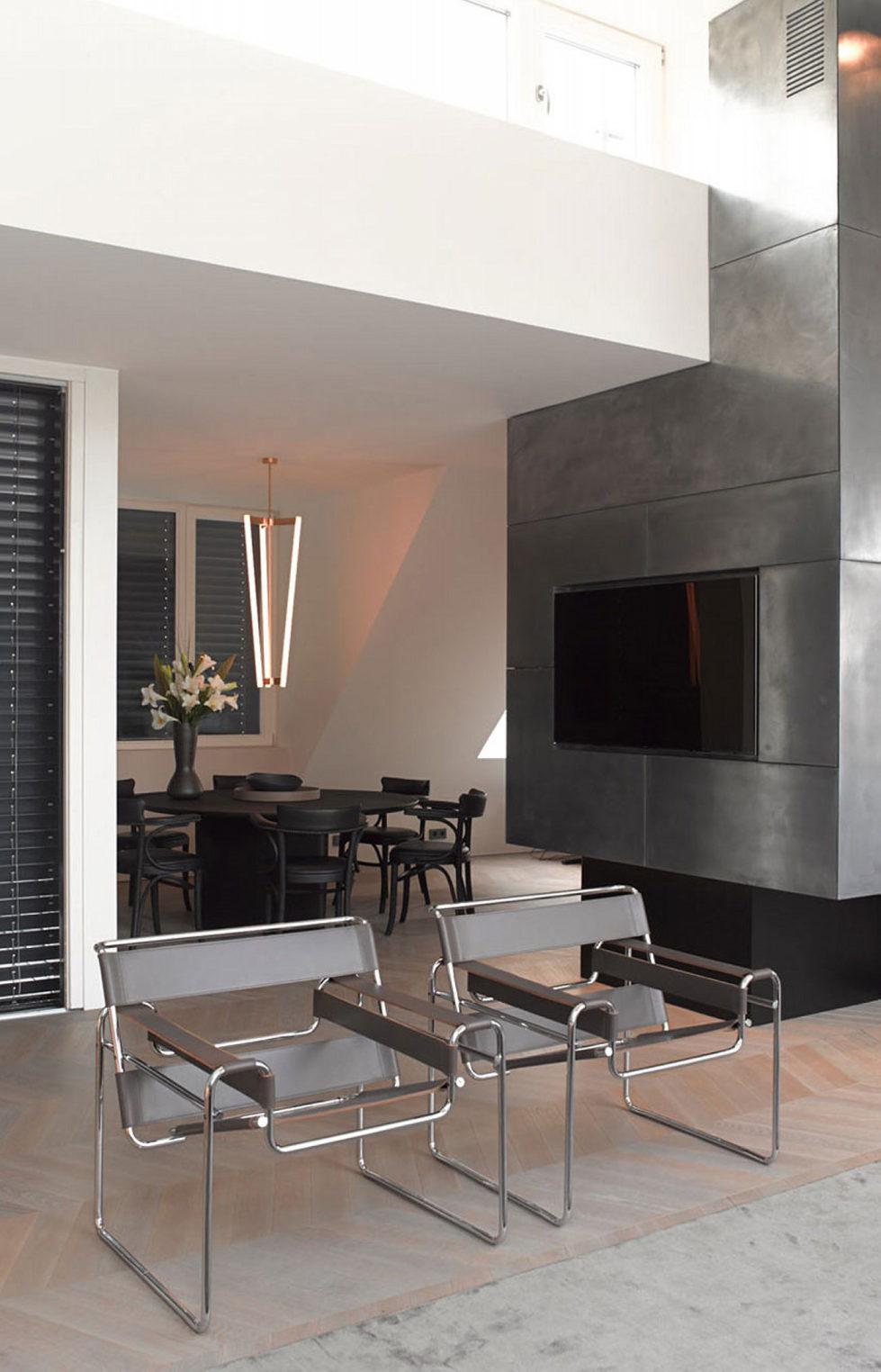 The mansard apartment in loft style in Vienna from Bernd Gruber studio 5