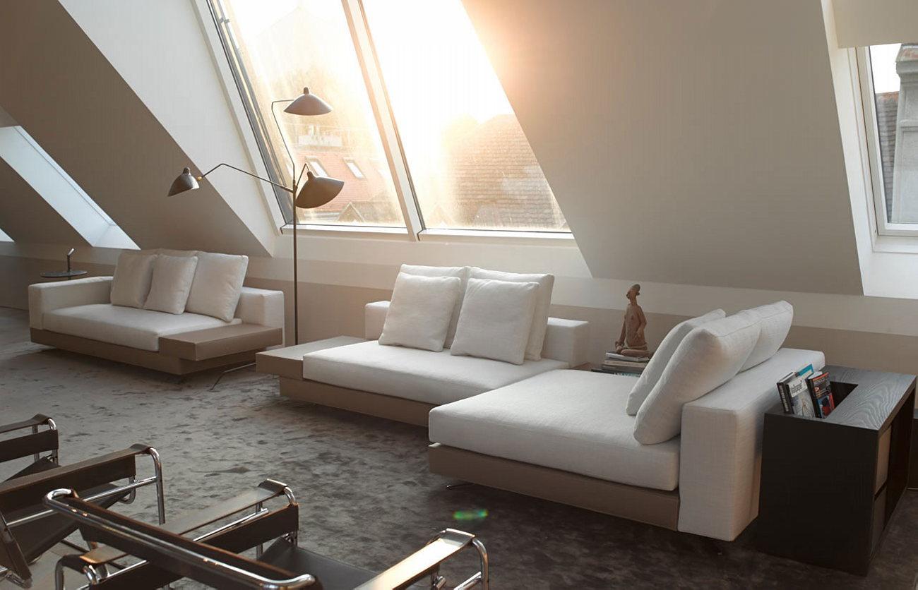 The mansard apartment in loft style in vienna from bernd gruber studio - Badkamer mansard ...