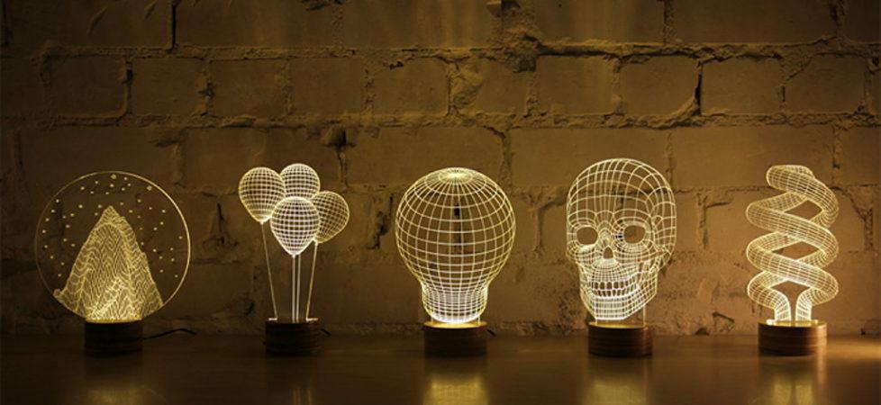 Three dimensionalLEDluminairesfromStudioCheha