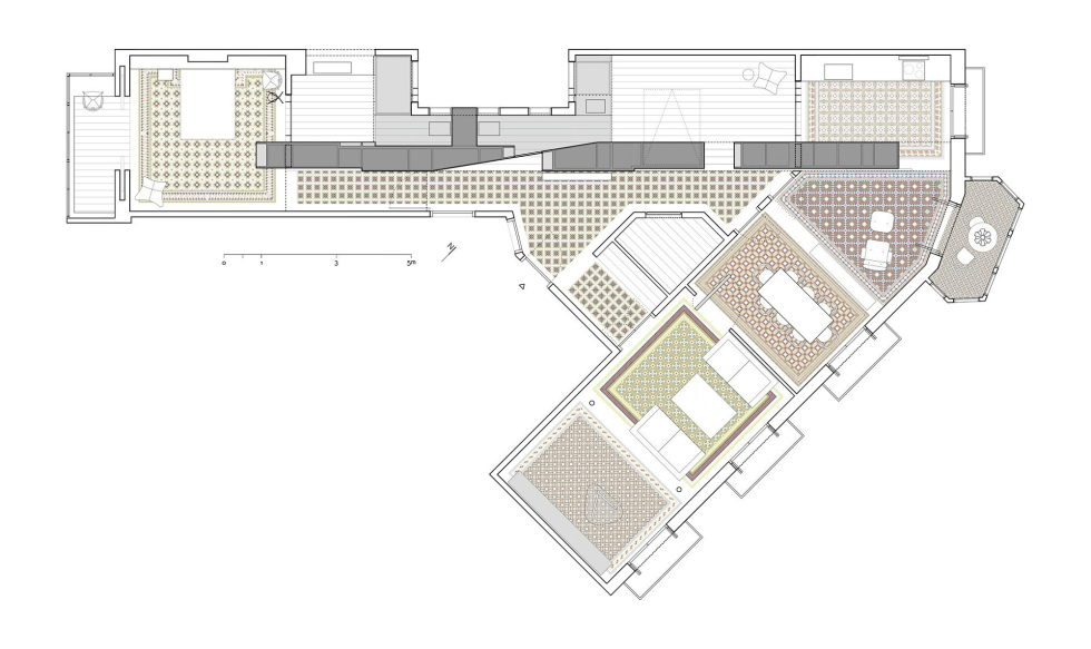 AB House 19th-century Barcelona apartment by Built Architecture – Plan 1