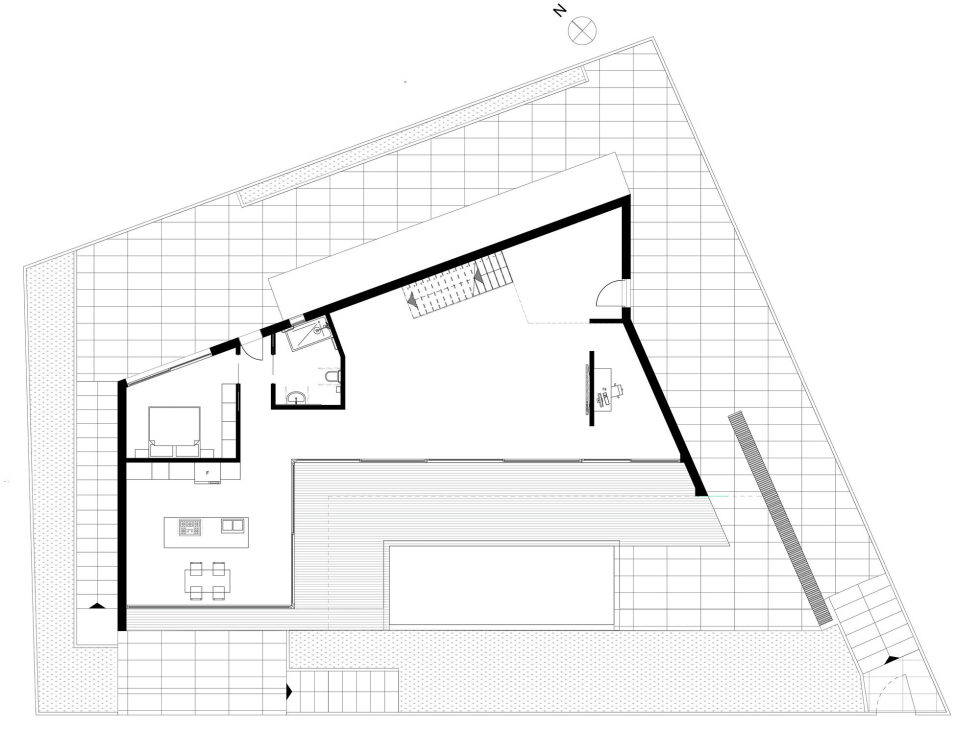 JC House Villa At The Suburb Of Lisbon, Portugal, Upon The Project Of JPS Atelier – Plan 3
