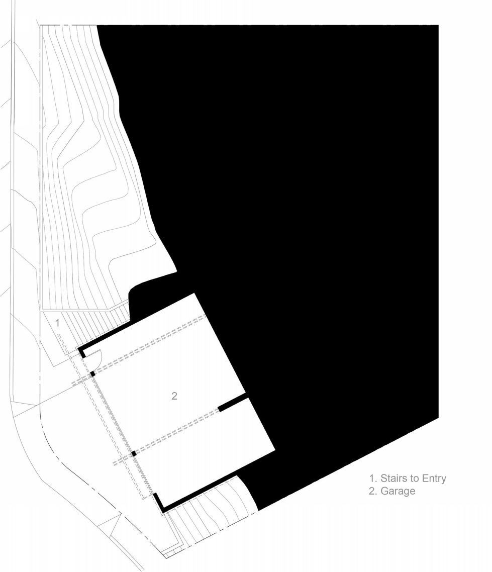 Lopez House The Private Residency In Los Angeles Upon The Project of Martin Fenlon Architecture – Plan 1