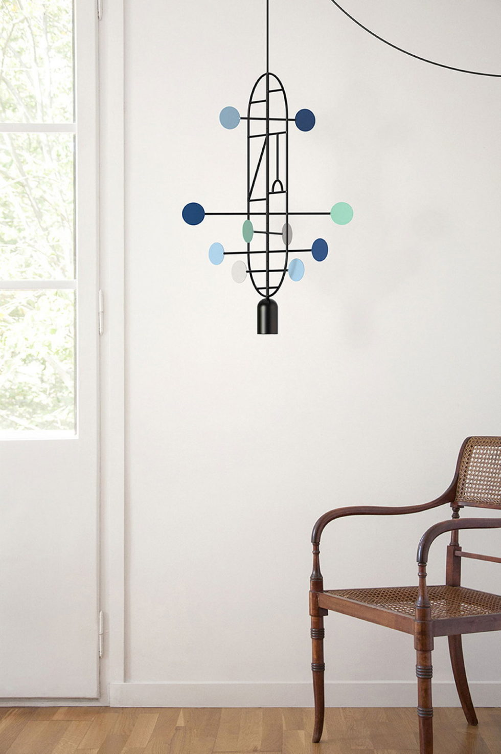 Minimalist pendant lamps Lines & Dots from Goula Figuera studio 3