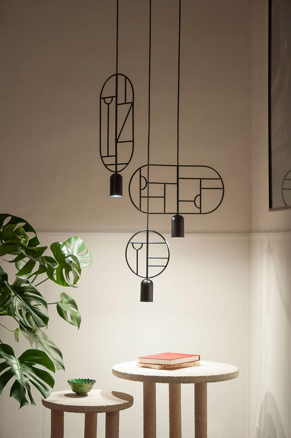 Minimalist pendant lamps Lines & Dots from Goula Figuera studio 8