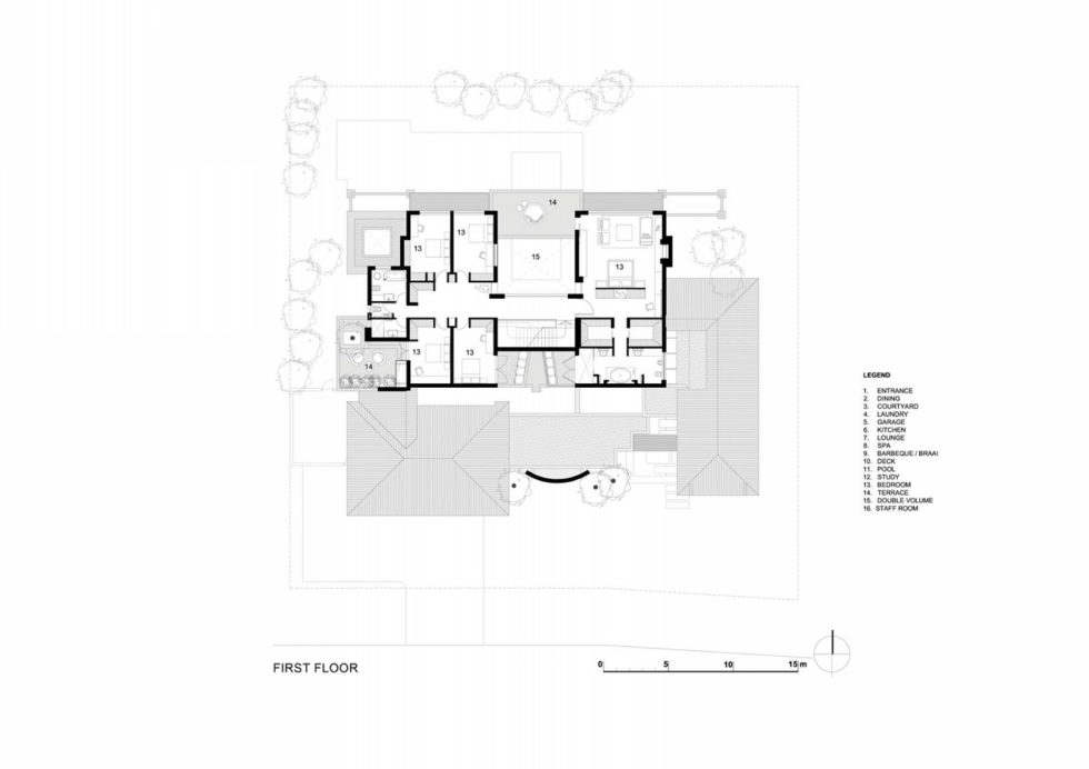 Pearl Valley 276 Country House In Cape Town, The Project Of Antoni Associates – Plan 2