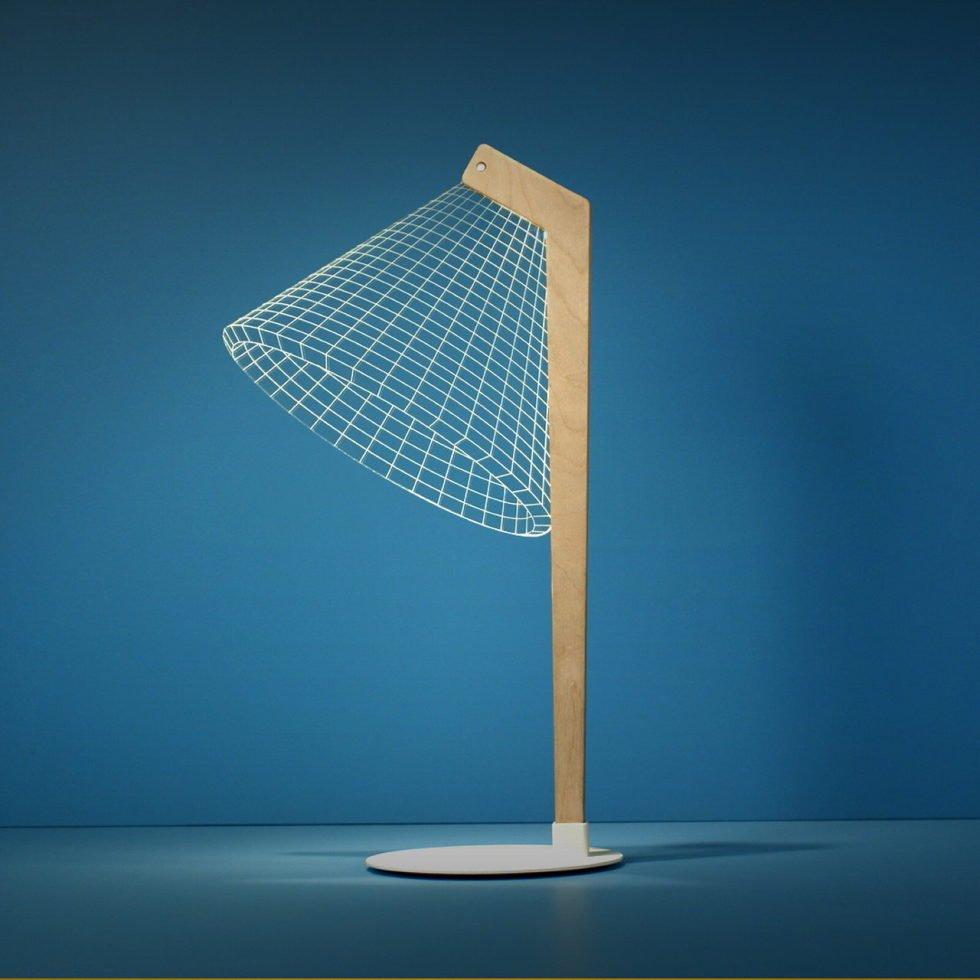 The new version of the Bulbing lamp with 3D-effect by Nir Chehanowski DESKi 1