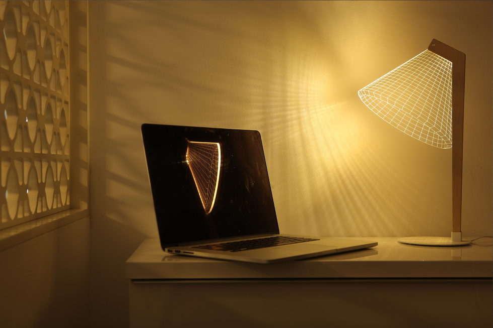 The new version of the Bulbing lamp with 3D-effect by Nir Chehanowski DESKi 2