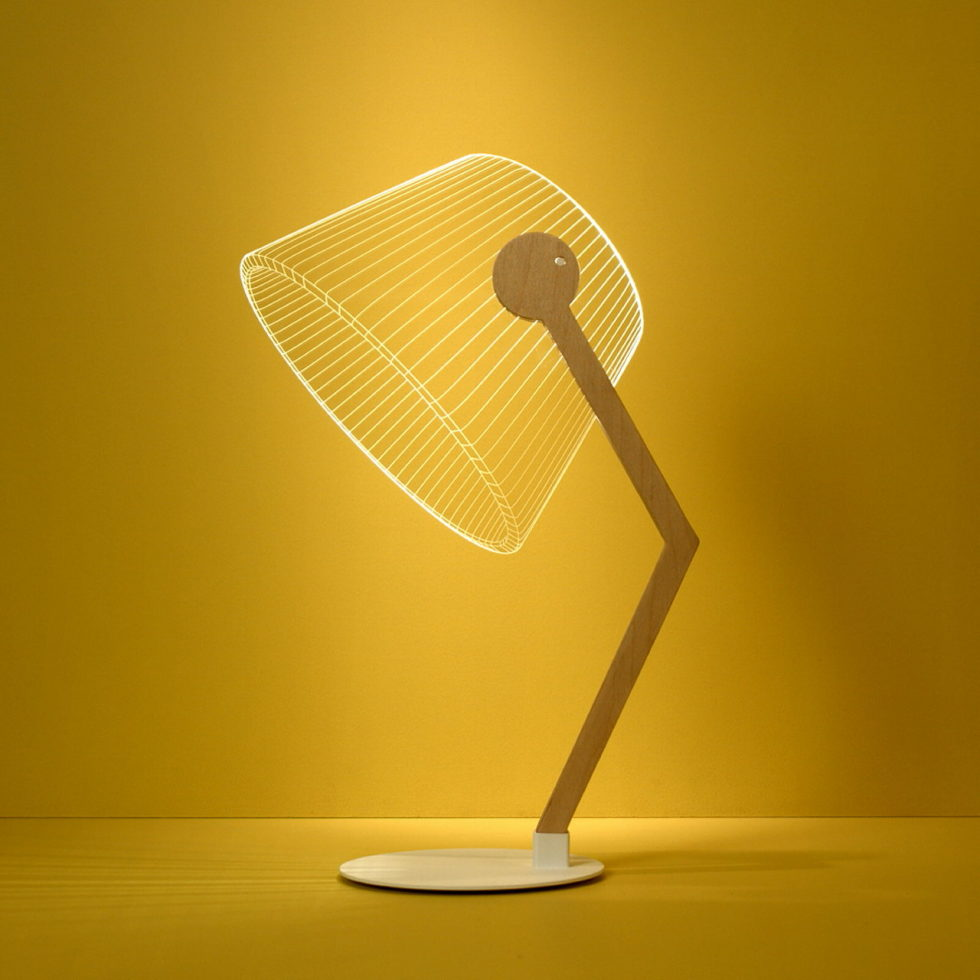 The new version of the Bulbing lamp with 3D-effect by Nir Chehanowski ZIGGI 1