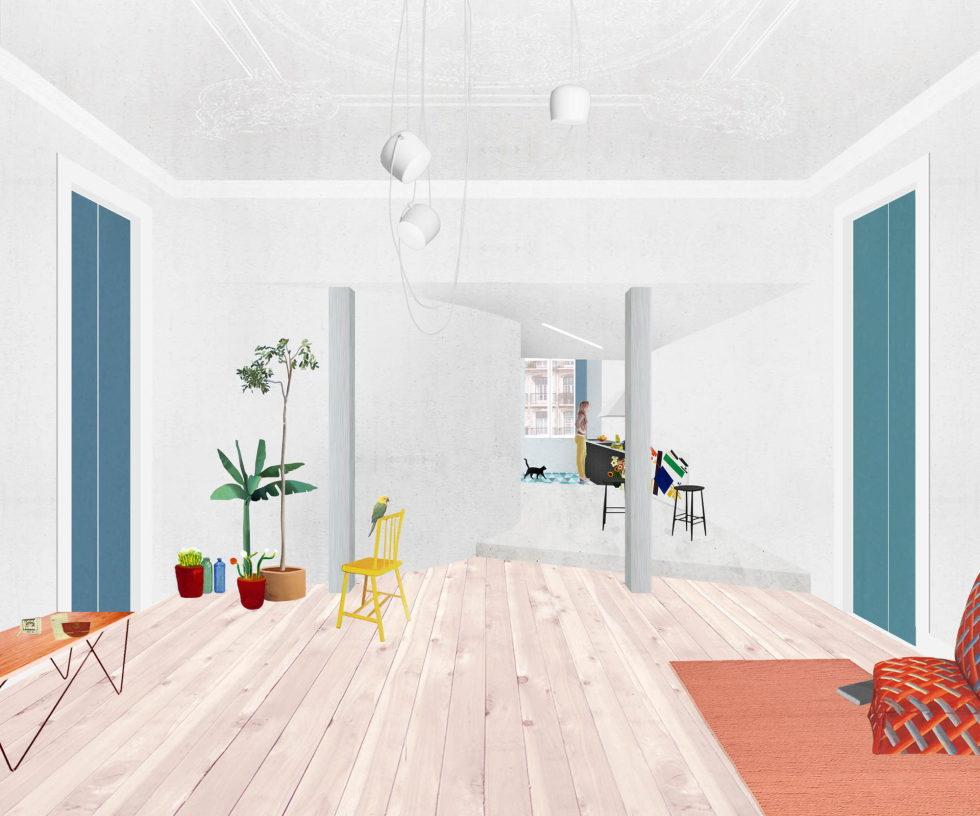 Chiado Apartments Seamless Day Spaces by Fala Atelier Plan 5