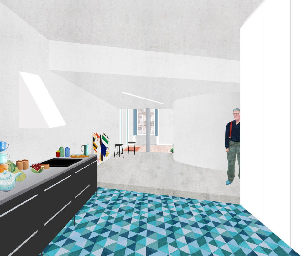 Chiado Apartments Seamless Day Spaces by Fala Atelier Plan 6