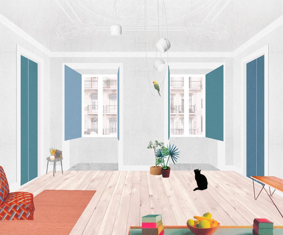 Chiado Apartments Seamless Day Spaces by Fala Atelier Plan 7