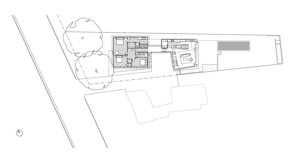 Hillside Residence In Texas Upon The Project Of Alterstudio Architecture Studio - Plan 1