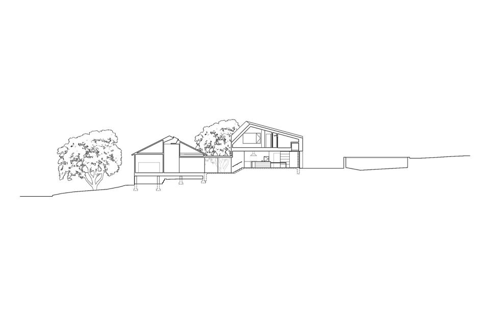 Hillside Residence In Texas Upon The Project Of Alterstudio Architecture Studio - Plan 2