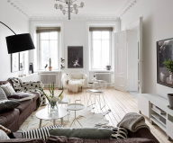 Scandinavian Interior Style A Spacious Flat In Goteborg 1
