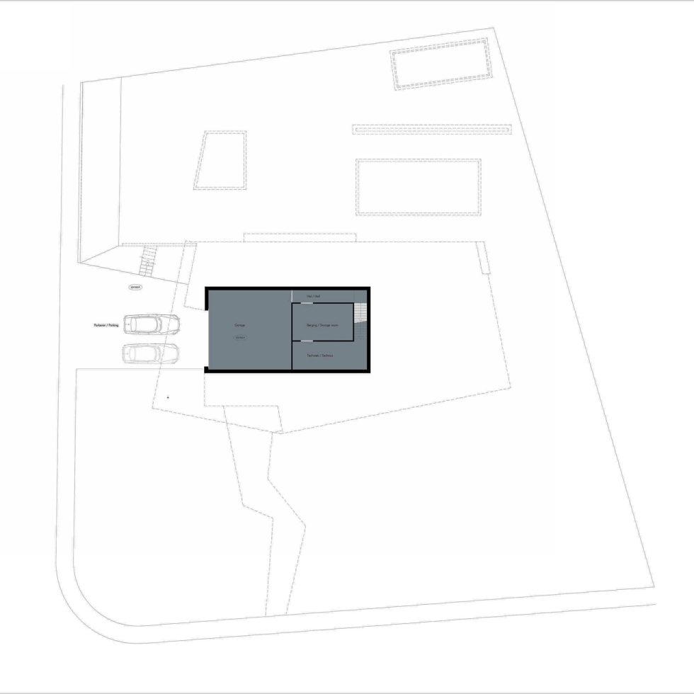 Spee Haelen Minimalism-Style Villa From Lab32 architecten Studio Plan 1