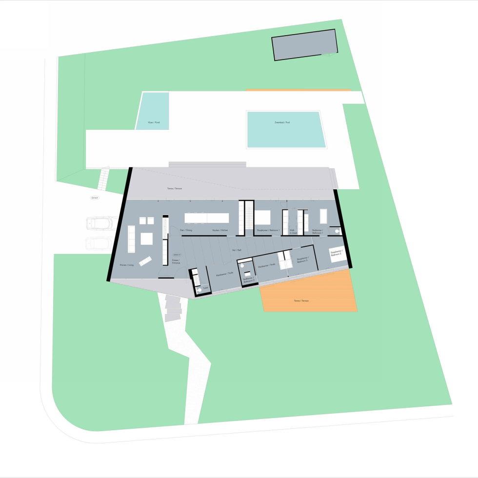 Spee Haelen Minimalism-Style Villa From Lab32 architecten Studio Plan 2