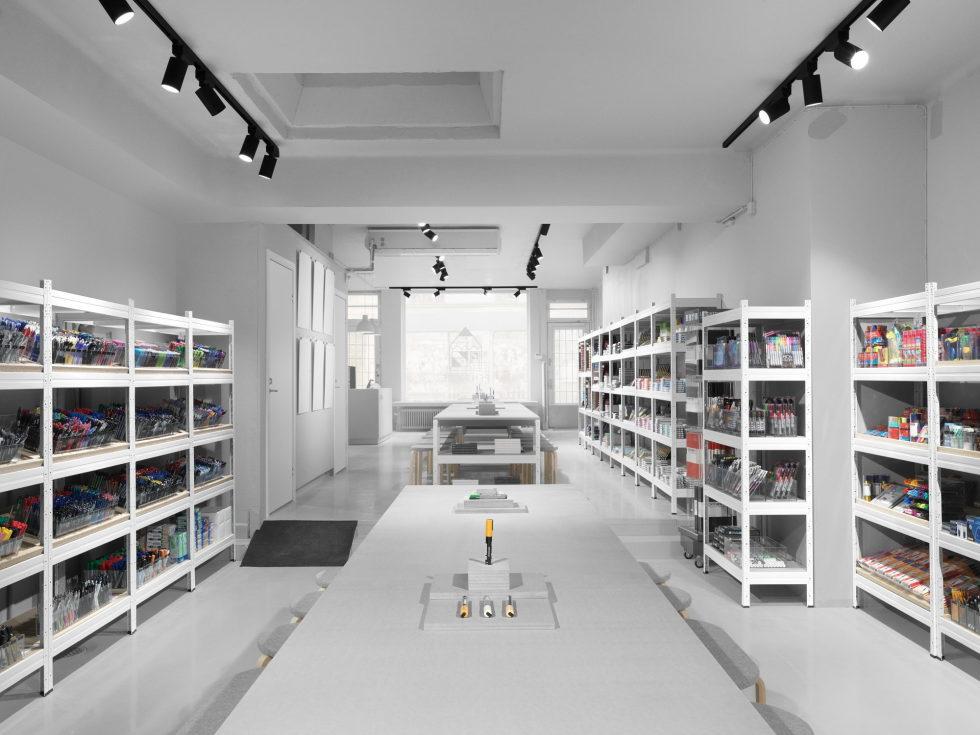 Stylish Monochromic Interior Of Colour Pencils Store 2