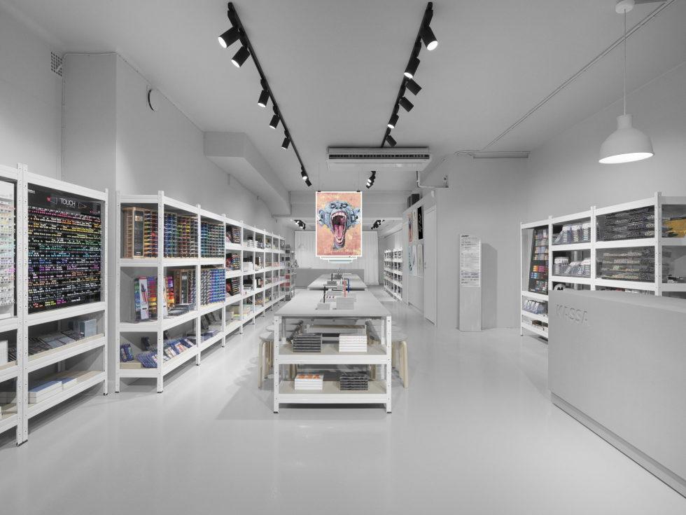Stylish Monochromic Interior Of Colour Pencils Store 3