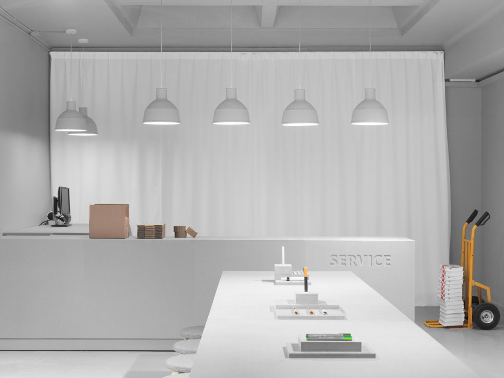 Stylish Monochromic Interior Of Colour Pencils Store 5