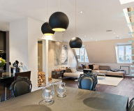 The apartment of 150 square meters on the attic in Stockholm 2