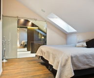 The apartment of 150 square meters on the attic in Stockholm 7