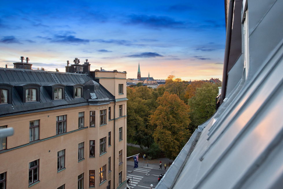 The apartment of 150 square meters in the attic in Stockholm 9