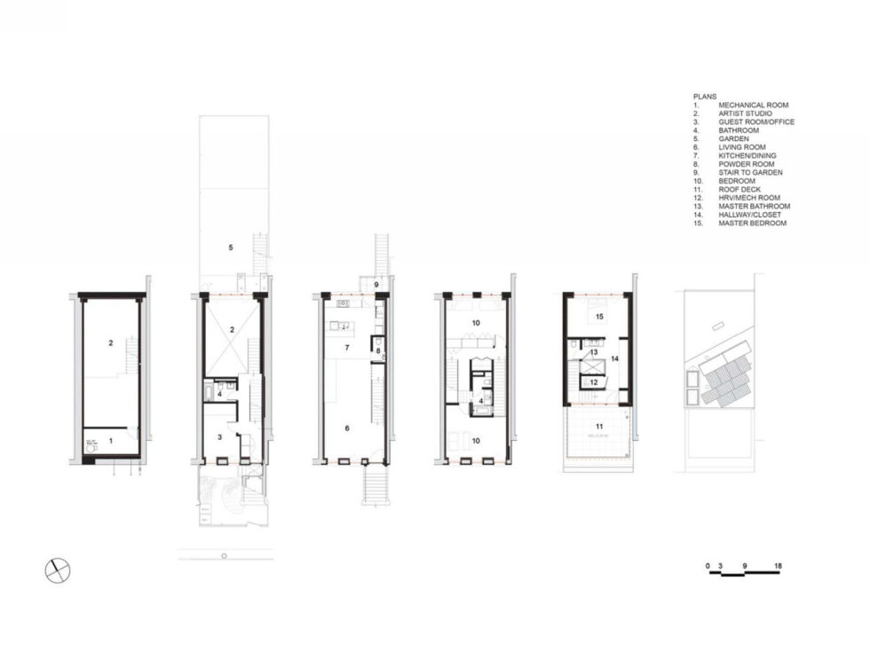 The certified energy-efficient house in New York City Plan 1