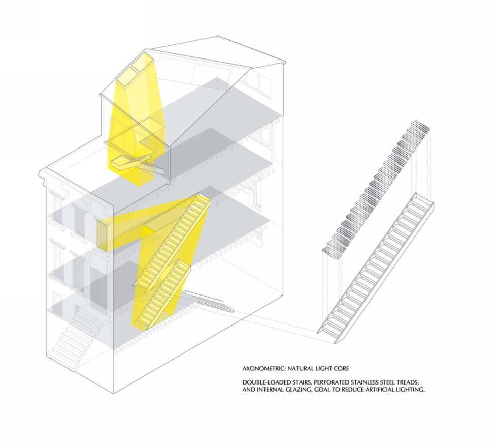 The certified energy-efficient house in New York City Plan 2