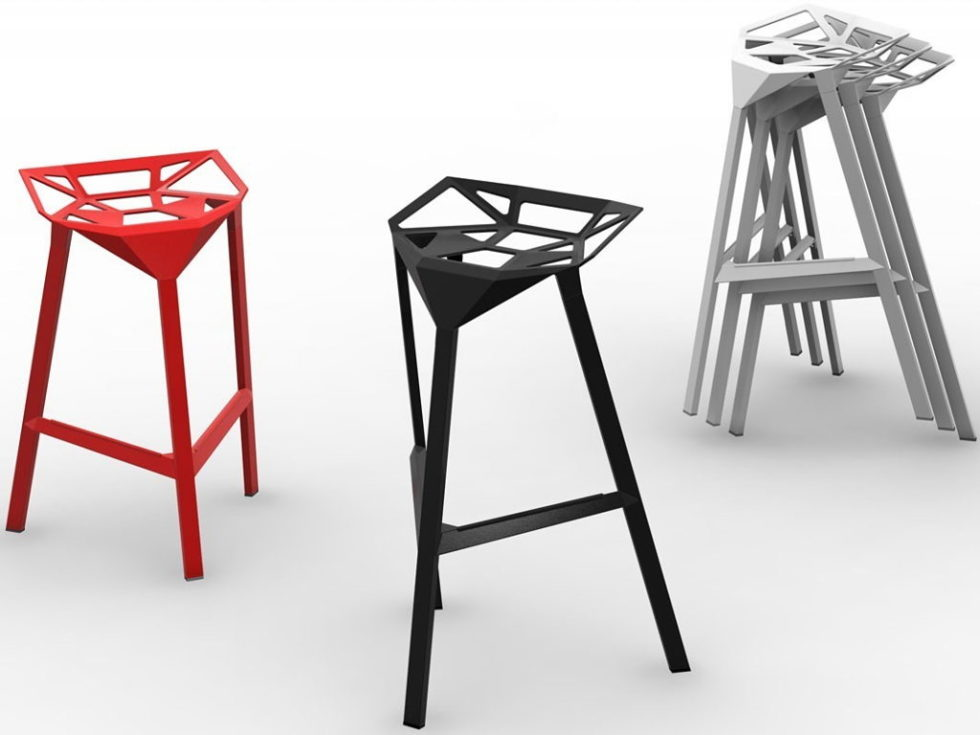 Three-dimensional chairs Stool_One 6